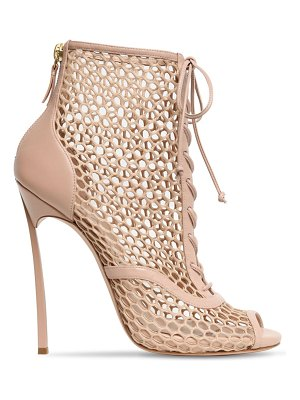 Casadei 120mm leather & mesh boots