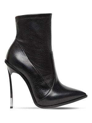Casadei 120mm maxi blade stretch leather boots