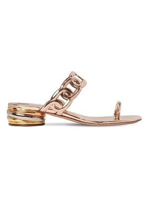 Casadei 30mm edwige metallic leather sandals