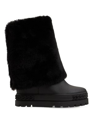 Casadei 80mm calgary double face leather boots
