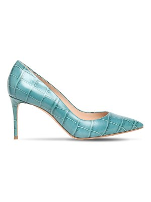 Casadei 80mm jolly croc embossed leather pumps