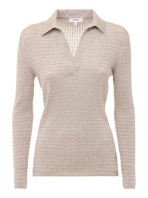 CASASOLA Cashmere & silk knit polo sweater