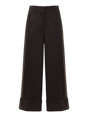 CASASOLA High waist wool wide leg pants