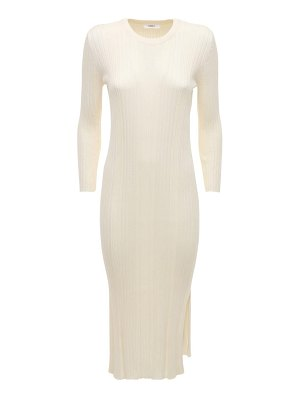 CASASOLA Luiza silk & cotton knit midi dress
