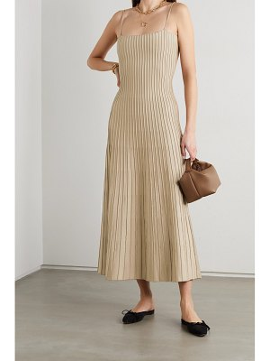 CASASOLA net sustain carlotta ribbed stretch-knit midi dress