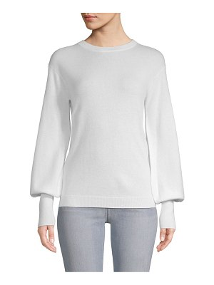 Cashmere Saks Fifth Avenue Bishop-Sleeve Sweater