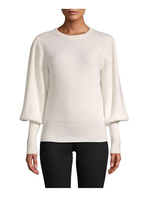 Cashmere Saks Fifth Avenue Blouson-Sleeve Cashmere Sweater