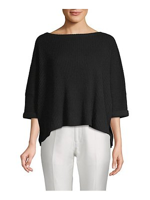 Cashmere Saks Fifth Avenue Boxy Cashmere Cropped Top