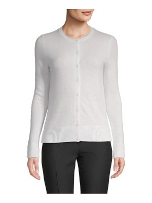 Cashmere Saks Fifth Avenue Button Front Cashmere Cardigan