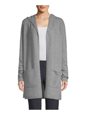 Cashmere Saks Fifth Avenue Cashmere Hooded Cardigan