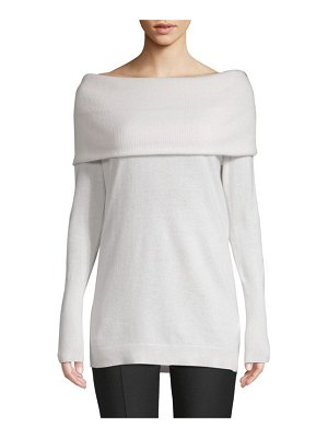 Cashmere Saks Fifth Avenue Cashmere Off-The-Shoulder Sweater