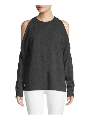 Cashmere Saks Fifth Avenue Cold-Shoulder Cashmere Sweater