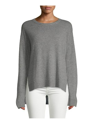 Cashmere Saks Fifth Avenue Contrast Trim Cashmere Sweater