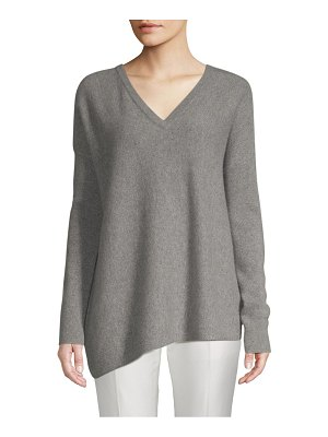 Cashmere Saks Fifth Avenue Dropped Shoulder Cashmere Sweater