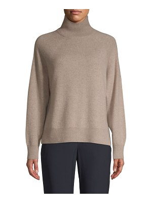 Cashmere Saks Fifth Avenue High-Low Cashmere Sweater