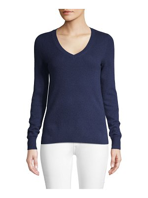 Cashmere Saks Fifth Avenue Long-Sleeve Cashmere Top