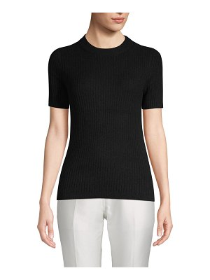 Cashmere Saks Fifth Avenue Ribbed Cashmere Tee