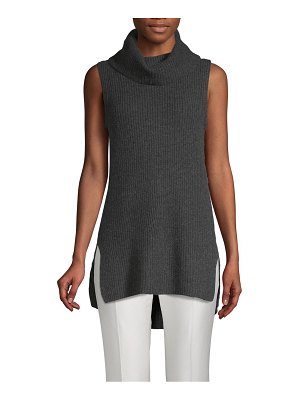 Cashmere Saks Fifth Avenue Ribbed Cowlneck Cashmere Top