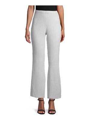 Cashmere Saks Fifth Avenue Ribbed Flare Cashmere Pants