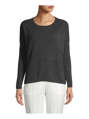 Cashmere Saks Fifth Avenue Ribbed-Sleeve Cashmere Sweater