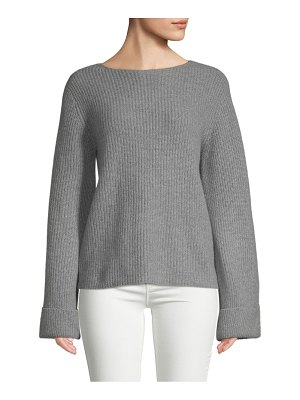 Cashmere Saks Fifth Avenue Shaker-Stitched Cashmere Sweater