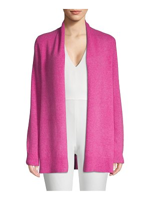 Cashmere Saks Fifth Avenue Textured Cashmere Open Front Cardigan