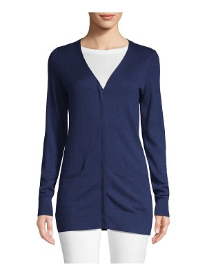 Cashmere Saks Fifth Avenue V-Neck Cardigan