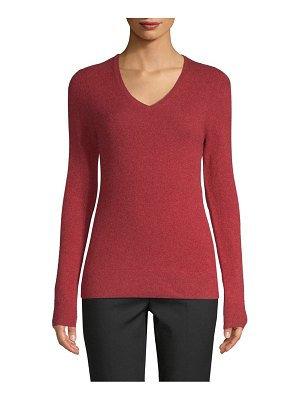Cashmere Saks Fifth Avenue V-neck Cashmere Sweater