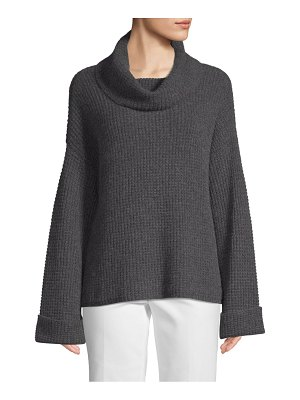 Cashmere Saks Fifth Avenue Waffle-Stitched Cashmere Sweater