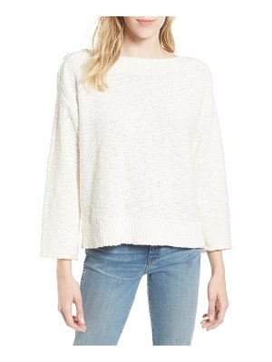 Caslon caslon button shoulder boat neck sweater