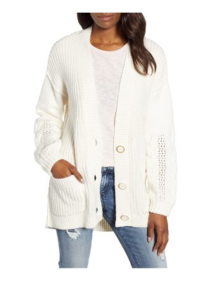 Caslon caslon cable knit sleeve cardigan