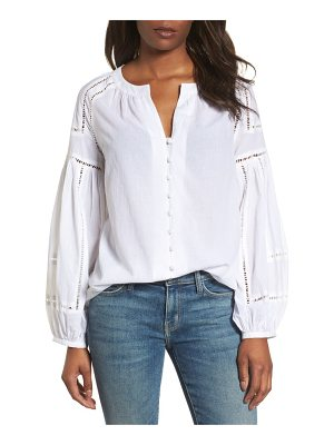Caslon caslon embroidered peasant sleeve top