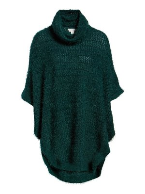 Caslon caslon eyelash knit poncho sweater