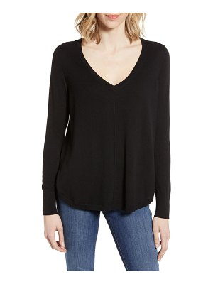 Caslon caslon high-low v-neck sweater