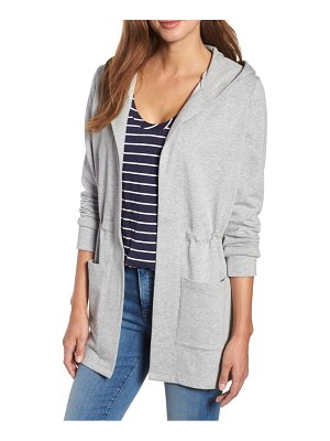 Caslon caslon hooded french terry cardigan