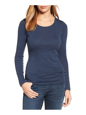 Caslon caslon long sleeve scoop neck cotton tee