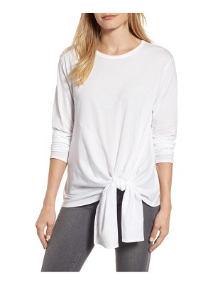 Caslon caslon long sleeve side tie tee