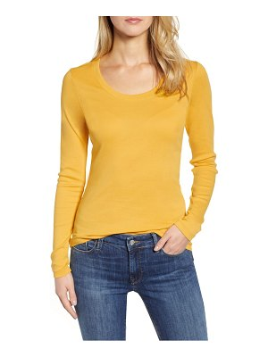 Caslon caslon 'melody' long sleeve scoop neck tee