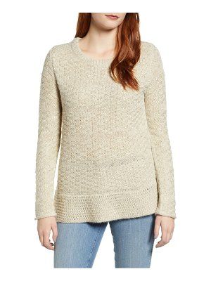 Caslon caslon mixed stitch sweater