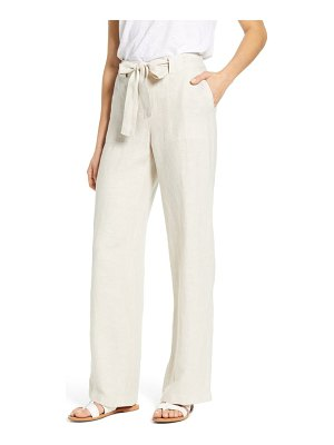 Caslon caslon new belted yarn dyed linen pants