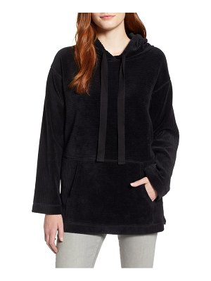 Caslon caslon off duty v-neck velour hoodie