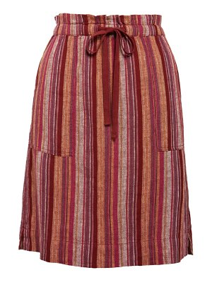 Caslon caslon patch pocket linen blend skirt
