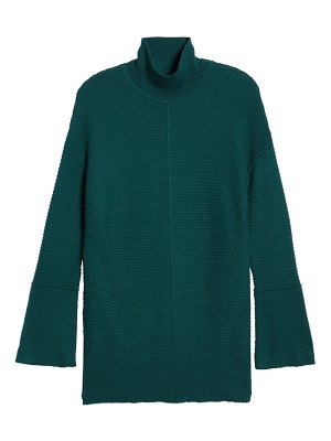 Caslon caslon ribbed turtleneck tunic sweater
