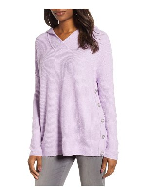 Caslon caslon side button hooded sweater