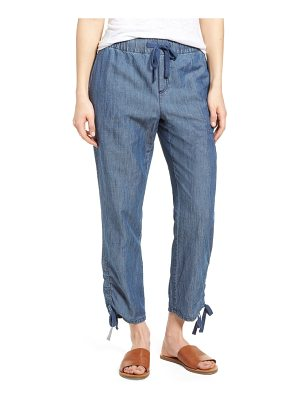 Caslon caslon side ruched crop pants
