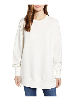 Caslon caslon side slit cotton sweatshirt