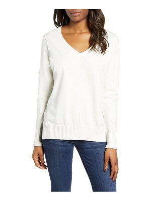 Caslon caslon side slit sweater