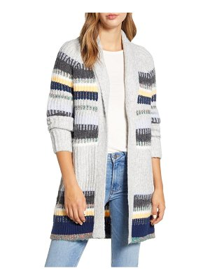 Caslon caslon staggered stripe cardigan