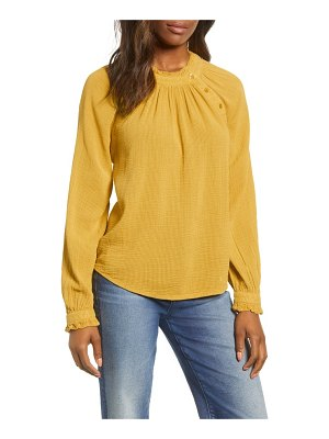 Caslon caslon textured cotton blouse