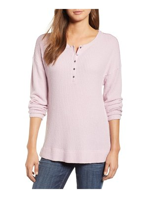 Caslon caslon thermal henley top